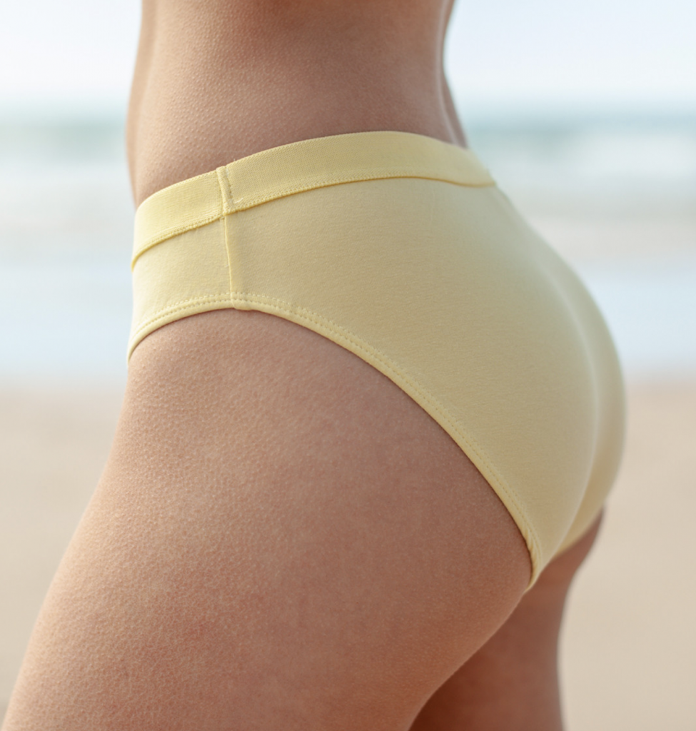 Ethical underwear | Yellow cotton underwear from Rapanui