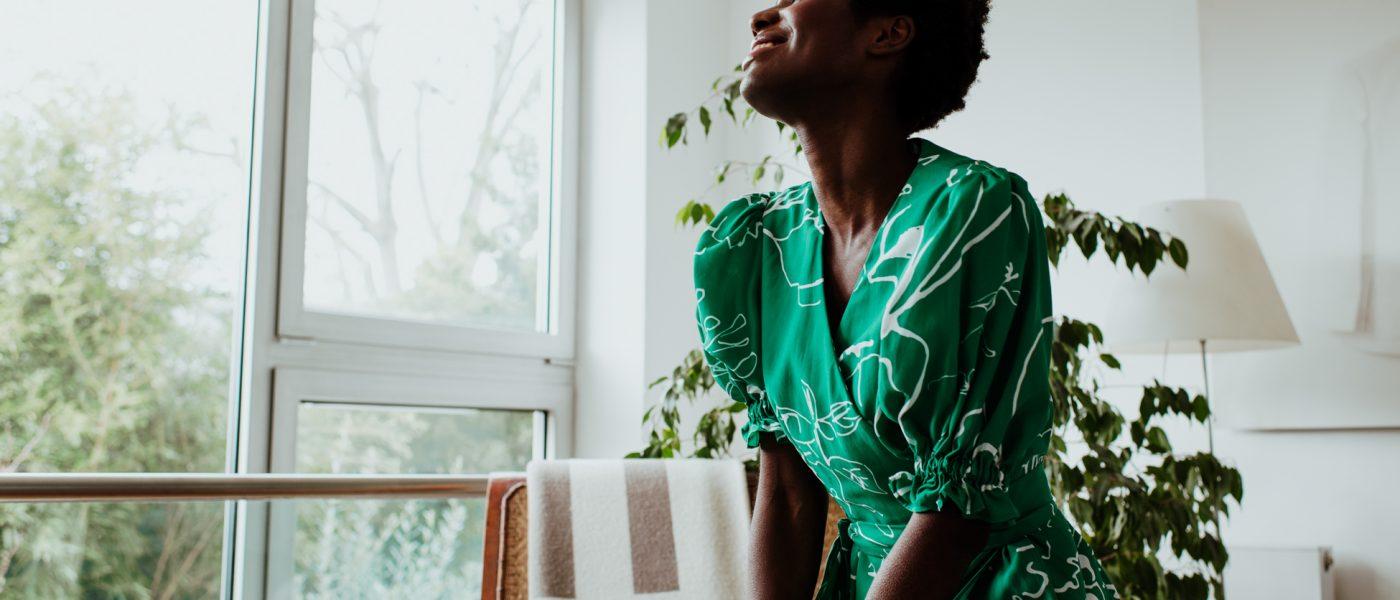 Birdsong | green dress