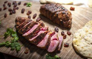 Eversfield Moroccan lamb rump steaks