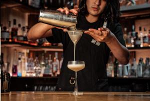 Cocktail in the making   Nine Lives   London Bridge