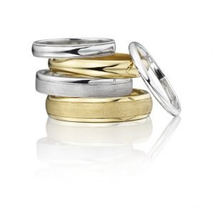 Wedding rings gold and platinum from Ingle and Rhode
