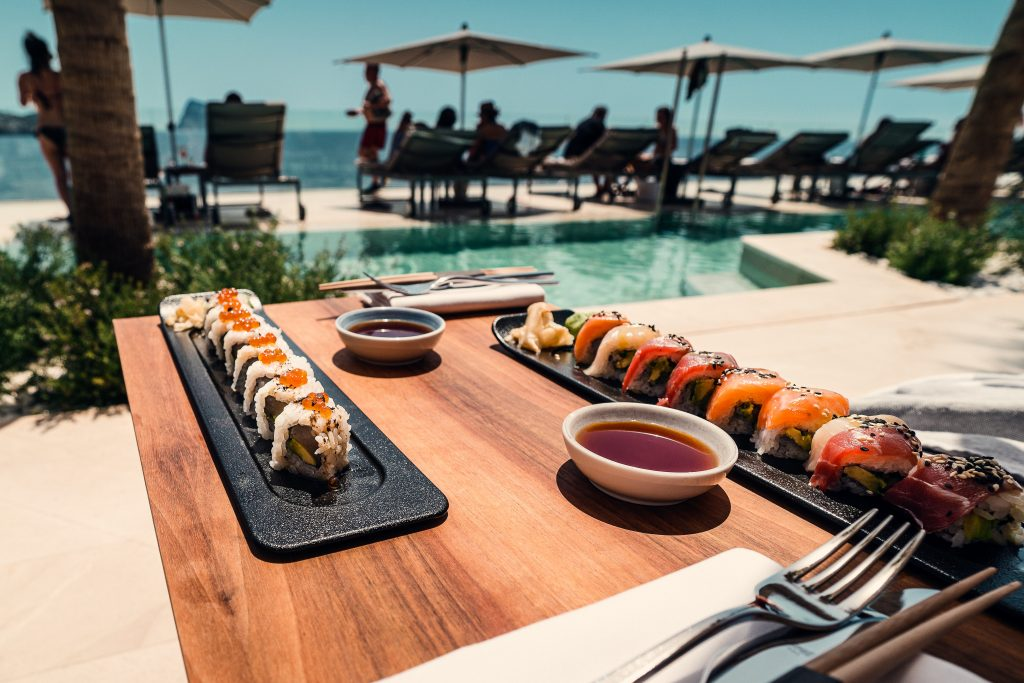 Unsustainable Sushi by Pool